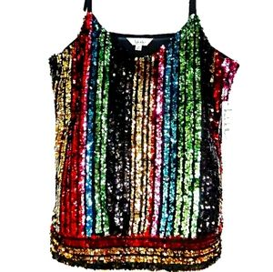 ✨HOST PICK✨ Nicole Miller Sequined Tank Blouse
